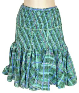 Anthropologie Skirt Multi Blues