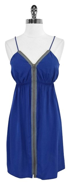Twelfth St. by Cynthia Vincent short dress Blue & Gray Silk on Tradesy