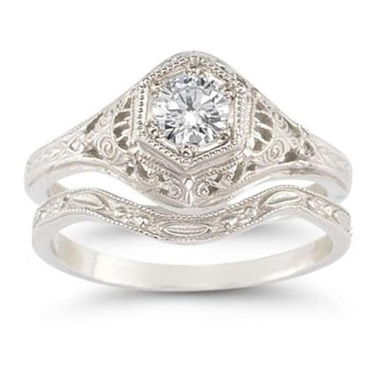 Preload https://item2.tradesy.com/images/apples-of-gold-white-antique-style-13-carat-diamond-set-engagement-ring-370036-0-0.jpg?width=440&height=440