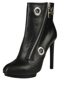 Alexander Mcqueen Ankle With Removable Harness Black Boots