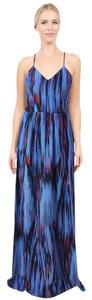 Purple, Blue, Hot Pink Maxi Dress by Parker Silk Maxi Cut-out