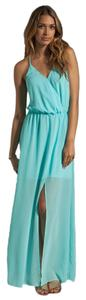 Teal Maxi Dress by Rory Beca Flowy Cut-out Party Sheer
