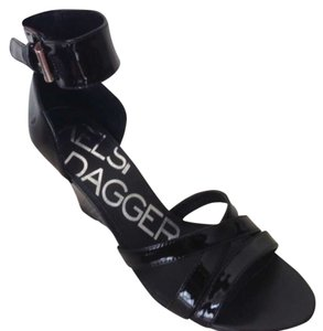 Kelsi Dagger Black Patent Wedges