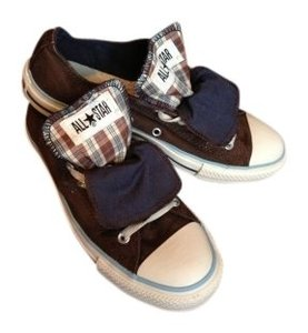 Converse Brown/ Plaid Athletic