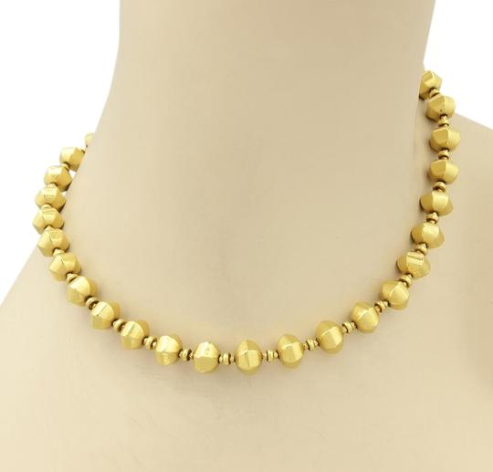 Laura Gibson LG 15289 - Laura Gibson 22k Gold Fractal Faceted Beaded Necklace