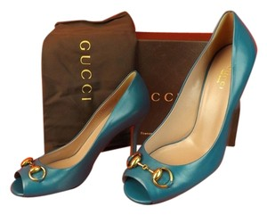 Gucci Blue Turqouise Pumps