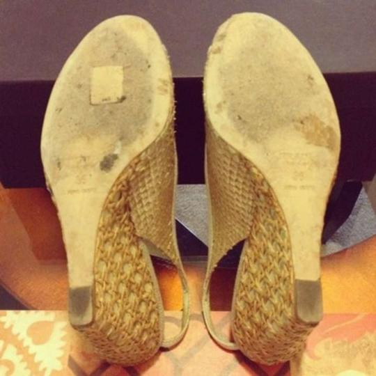 Prada Sandals Snakeskin Snakeskin S Natural Wedges