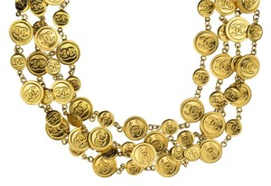 Chanel Chanel Vintage Coin Multi-Strand Necklace