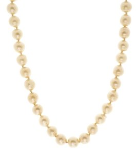 Chanel Chanel Vintage Faux Pearl Interlocking CC Chocker