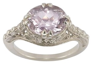 Apples of Gold Vintage Rose Kunzite Ring in .925 Sterling Silver