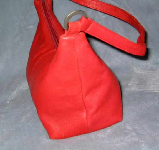 Maple Leather Works Great Basic Tote in Red