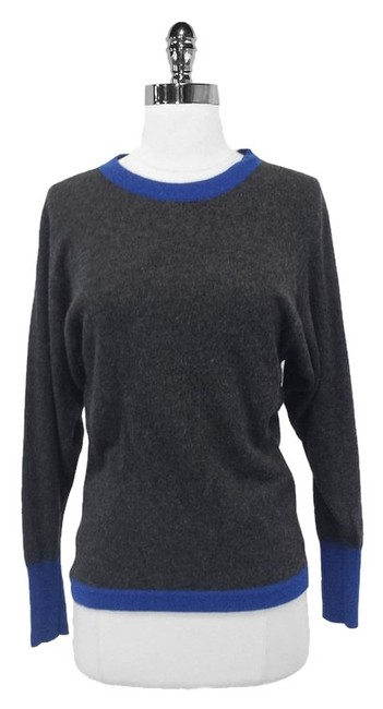 Preload https://item1.tradesy.com/images/chanel-gray-and-blue-cashmere-sweaterpullover-size-4-s-3703390-0-0.jpg?width=400&height=650