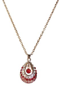 Crystal Ruby Drop Necklace Crystal Ruby Drop Necklace