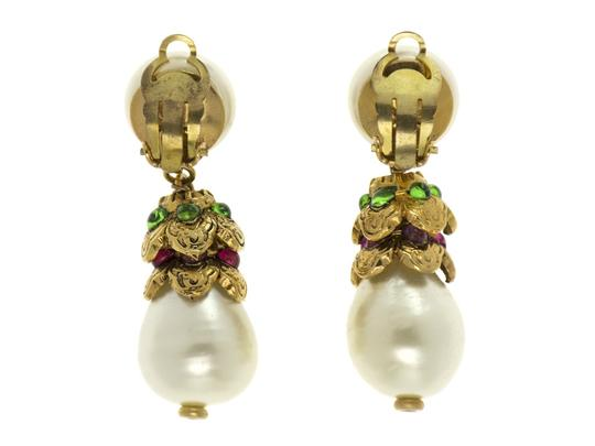 Chanel Chanel Vintage Gold Peral Drop Gripoix Earrings