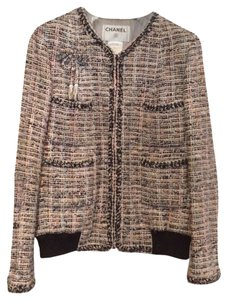 Chanel Tweed Mid Length Bomber Multicolor Jacket