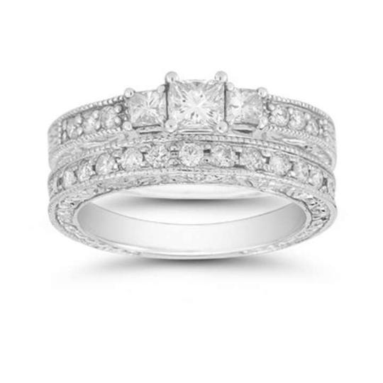 Preload https://item5.tradesy.com/images/apples-of-gold-white-1-carat-three-stone-princess-cut-floret-diamond-set-engagement-ring-370369-0-0.jpg?width=440&height=440