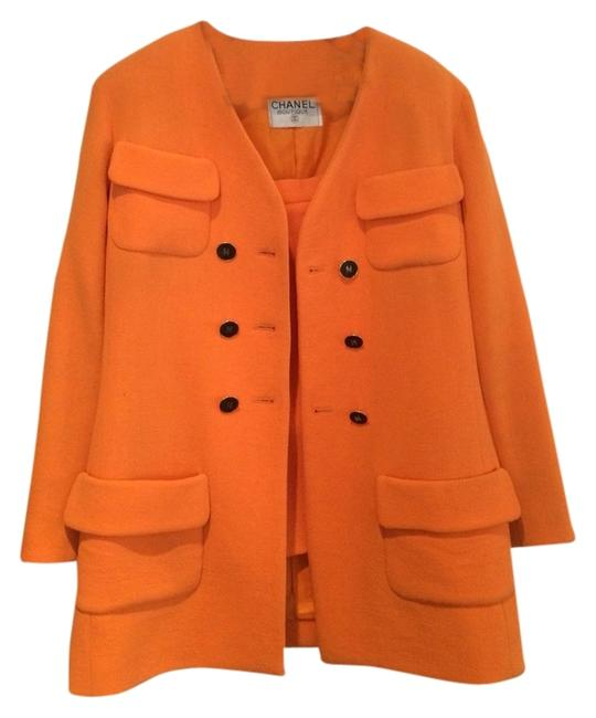 Item - Orange Double Breasted Skirt Suit Size 8 (M)