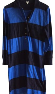 J.Crew short dress Blue Stripe on Tradesy