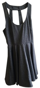 Lux short dress grey on Tradesy