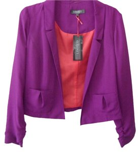 Marks & Spencer Silk Look Color Lined Purple with Red Lining Jacket