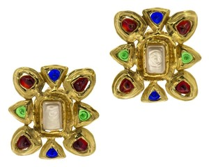 Chanel CHANEL VINTAGE GOLD GRIPOIX EARRING