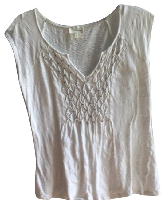 Preload https://item3.tradesy.com/images/anthropologie-off-white-tee-shirt-size-6-s-3705667-0-0.jpg?width=400&height=650