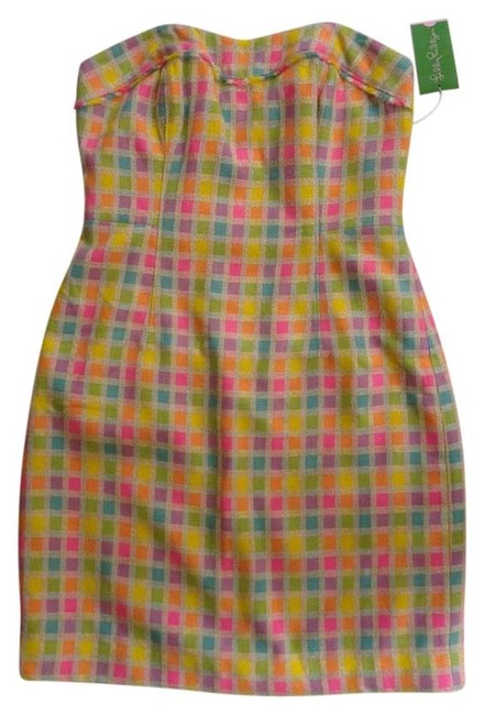 Lilly Pulitzer short dress Multicolored Tweed Preppy Plaid on Tradesy
