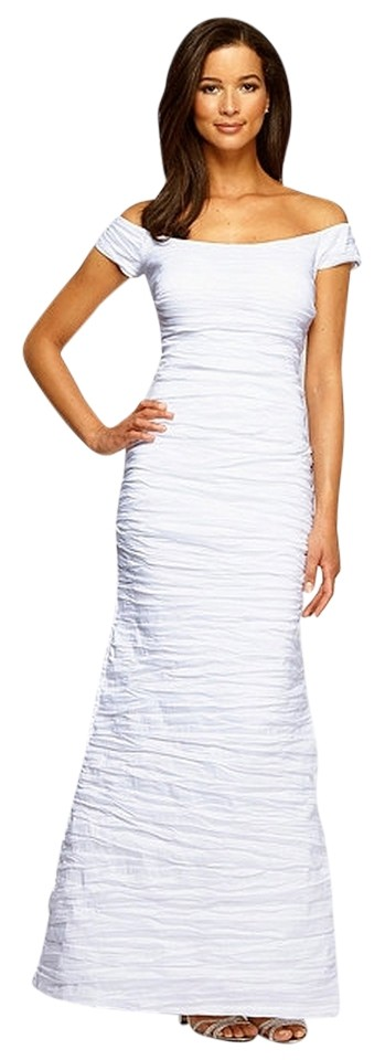 Alex & Eve White Evenings Off-the-shoulder Gown Long Formal Dress ...