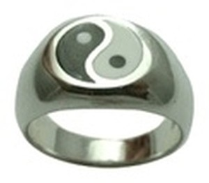 Other Sterling Silver Yin Yang Inlay Ring