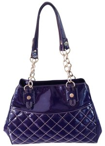Maxx New York Patent Satchel in Purple