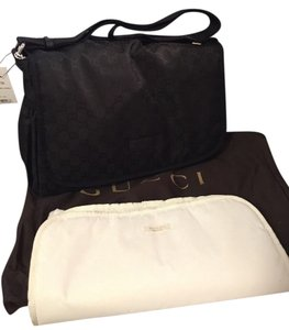 Gucci Nylon Guccissima black Diaper Bag