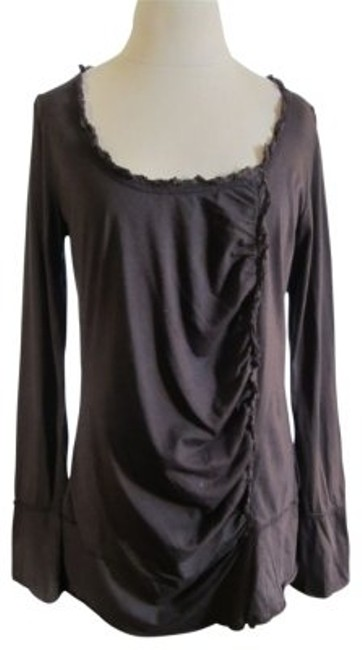 Preload https://img-static.tradesy.com/item/37068/coffee-brown-bell-sleeved-with-ruching-tunic-size-12-l-0-0-650-650.jpg