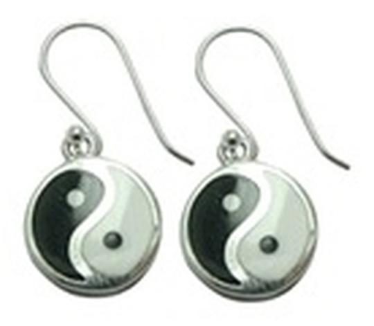 Other Sterling Silver Yin Yang Earrings