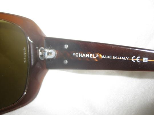 Chanel 5101 CC Logo Enamel Brown Gray Black White Authentic Square Oversized