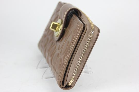 Coach * Coach Copper Embossed Leather Zip Around Wallet F48594