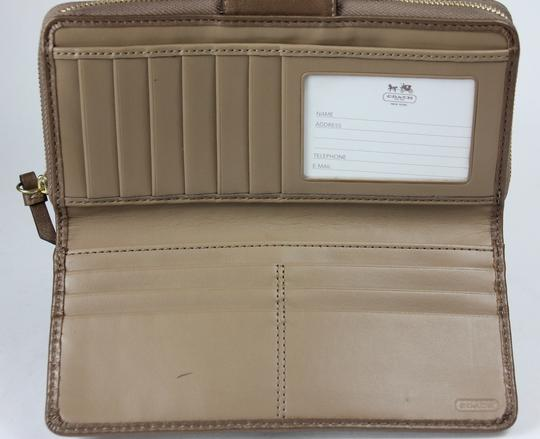 Coach * Coach Copper Embossed Leather Zip Around Wallet F48594 Image 3