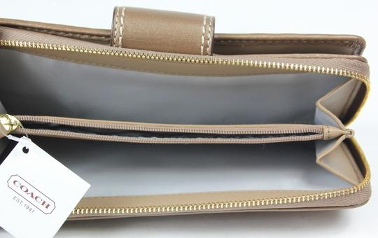 Coach * Coach Copper Embossed Leather Zip Around Wallet F48594 Image 4