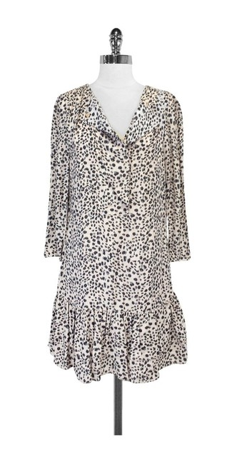 Reiss short dress Pink & Gray Print Flounce on Tradesy