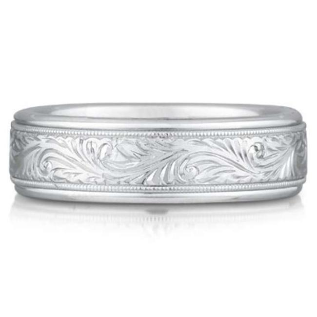 Item - Silver Paisley Engraved Ring Sterling Women's Wedding Band
