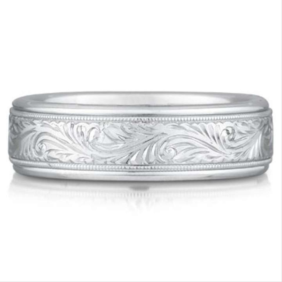 engravable silver sterling engraved eve bands s spinner design scroll ring with