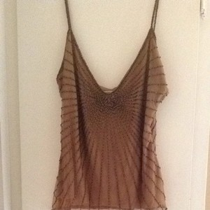 Adrianna Papell Beaded Top Brown Beading