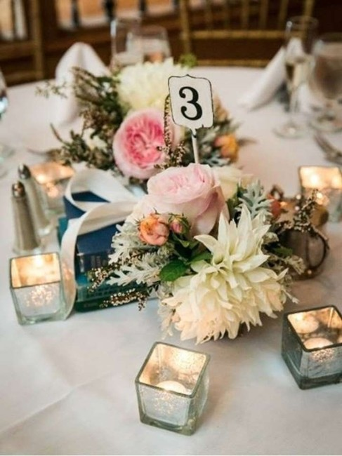 Item - Off White Rustic Table Numbers Reception Decoration