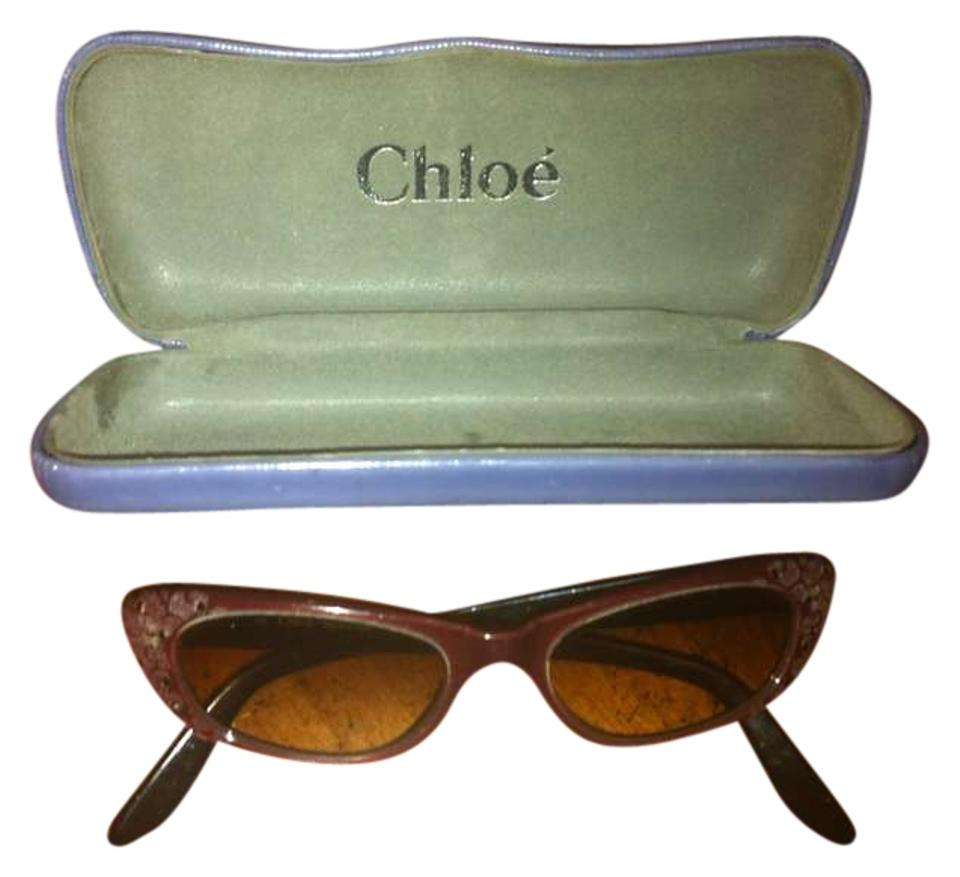 33075104cb9cd Chloé Purple Vintage Inspired Cat Eyed Sunglasses 91% off retail