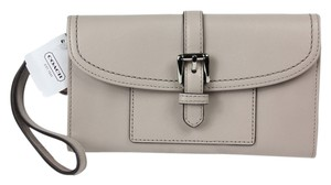 Coach Coach Leather Hybrid Putty Wallet F51845 - Light Charcoal Beige