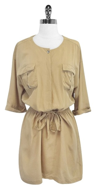 Mara Hoffman short dress Tan Silk Utility on Tradesy