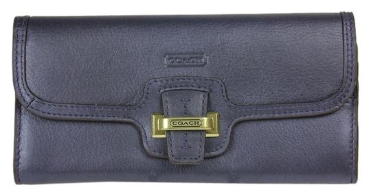 Coach * Coach Taylor Leather Slim Envelope Wallet F51179 - Midnight Blue