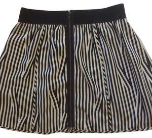 Silence + Noise Vintage Striped Mini Skirt Black and White