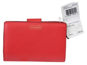 Coach Coach Darcy Persimmon Leather Wallet F50431 - Red