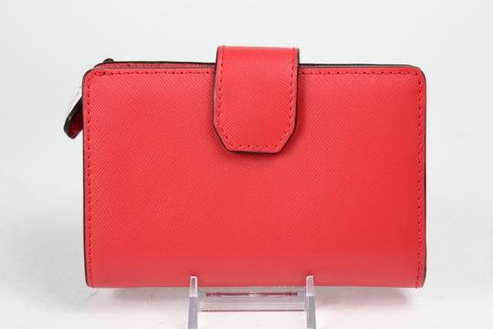 Coach * Darcy Persimmon Leather Wallet F50431 - Red