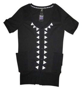 Hellz Bellz Streetwear Urban Button Down Shirt Black